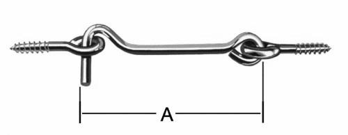 Крючок накидной с осью VORMANN