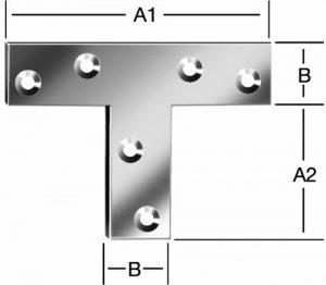 Уголок плоский Т-образный