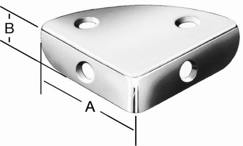 Уголок защитный для ящика плоский VORMANN
