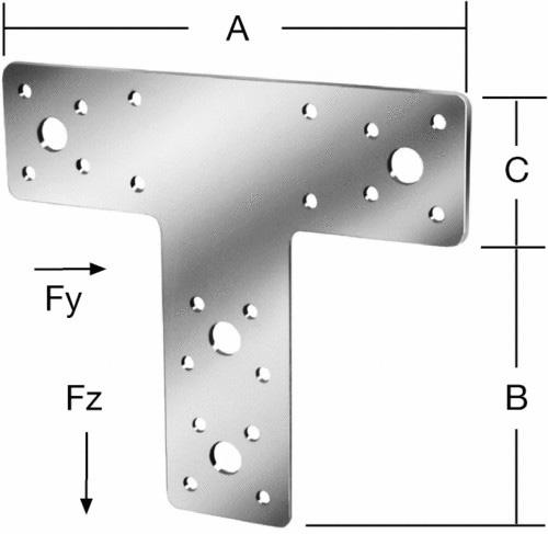 Пластина соединительная T-образная