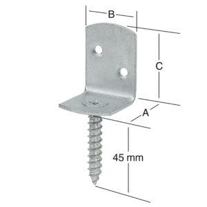 Элемент соединительный L-образный для заборов чертеж
