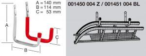 Крюк настенный U-образный