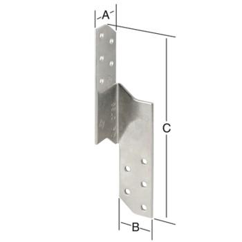 Крепеж для балки угловой 070946000-070947000RF чертеж